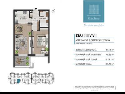 Vanzare apartament 2 camere in bloc nou, zona Bulevardul Bucuresti