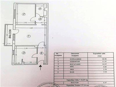 Vanzare apartament 2 camere, in Ploiesti, zona Paltinis