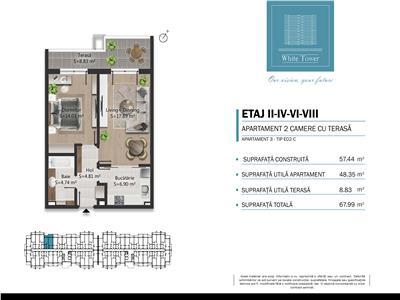 Vanzare apartament 2 camere in bloc nou, 0 comision, B-dul Bucuresti