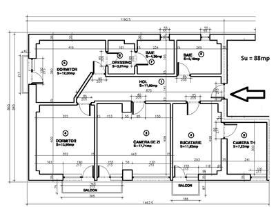 Vanzare apartament 3 camere 88 mp in ansamblu rezidential Nou, zona 9 Mai