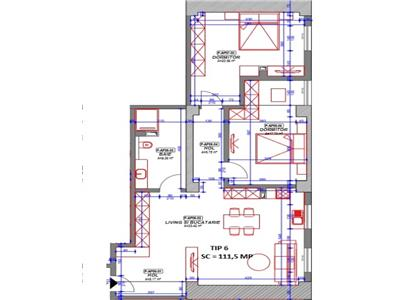 Vanzare apartament 3 camere in bloc nou, zona 9 Mai