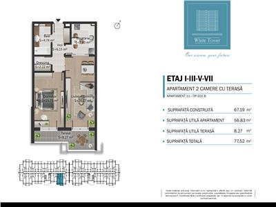 Vanzare apartament 2 camere in bloc nou, 0 comision, zona Bulevardul Bucuresti